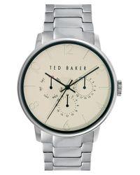 Ted Baker - Metallic Multifunction Bracelet Watch for Men - Lyst