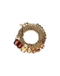 ABS By Allen Schwartz | Multicolor Chain Wrap Bracelet | Lyst