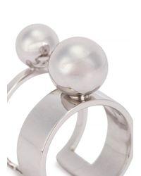 Joomi Lim | Metallic Sphere Rhodium-Dipped Ring | Lyst