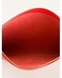 Comme des Garçons Red 'colour Embossed B' Purse