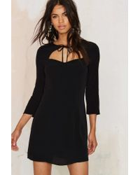 Nasty Gal | Tied You Over Mini Dress - Black | Lyst