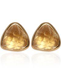 Dinny Hall - Metallic Gold Vermeil Citrine Jaipur Stud Earrings - Lyst