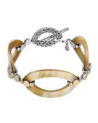 John Hardy | Metallic Dot Buffalo Horn Link Bracelet | Lyst