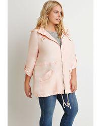 Forever 21 | Orange Plus Size Hooded Utility Jacket | Lyst