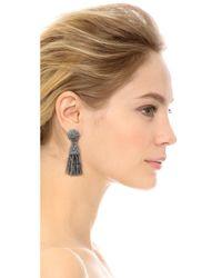 Oscar de la Renta | Metallic Short Tassel Earrings | Lyst