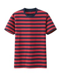 Uniqlo - Blue Men Supima Cotton Striped Short Sleeve T-shirt for Men - Lyst