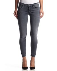 Hudson Jeans | Gray Krista Ankle Super Skinny | Lyst