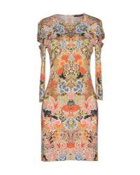 Alexander McQueen - Green Floral Embroidered Dress - Lyst