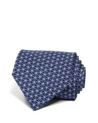 Ferragamo | Blue Gancini And Diamond Classic Tie for Men | Lyst