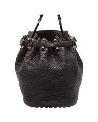 Alexander Wang Black Vintage Authentic Leather Diego Bucket Bag China W Medium