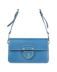 Prada Blue Cinghale Leather Crossbody Shoulder Bag
