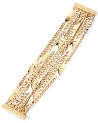 Kenneth Cole | Metallic Gold-tone Wide Link Bracelet | Lyst