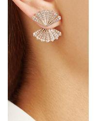 Anita Ko - Metallic Fan 18-Karat Rose Gold Diamond Earrings - Lyst