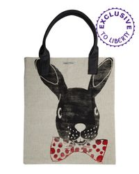 Simeon Farrar | White Rabbit Print Shopper Bag | Lyst
