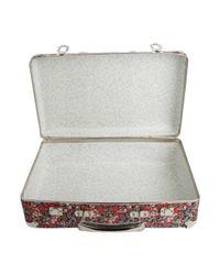 Liberty - Metallic Floral Wiltshire Print Mini Suitcase - Lyst