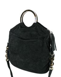 Almala - Natural Suede Shoulder Bag - Lyst