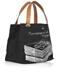 Anya Hindmarch - Black Newspapers and Magazines Tote - Lyst