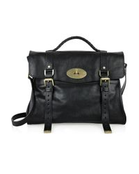 Mulberry Black Oversized Alexa Leather Bag