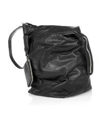 Rick Owens   Black Leather Shoulder Bag   Lyst
