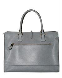 Ferragamo   Gray Saffiano Calf Briefcase   Lyst