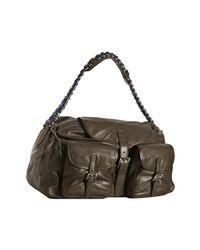 Balenciaga | Military Green Calfskin Chaine Shoulder Bag | Lyst
