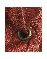 Beirn - Red Cherry Snakeskin Cc Drawstring Tote - Lyst