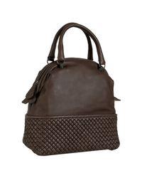 Bottega Veneta | Dark Brown Buttersoft Leather Bowler Bag | Lyst