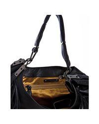 Céline | Black Leather Dimitri Fringe Large Hobo | Lyst