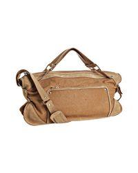 Céline | Brown Tan Leather Contrast Shoulder Bag | Lyst