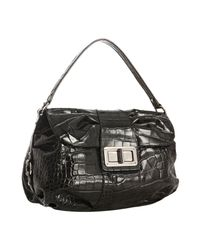 Furla | Black Crocodile Printed Leather Wally Shoulder Bag | Lyst