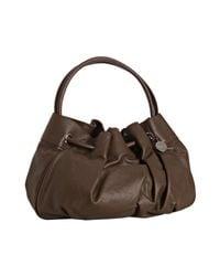 Furla | Brown Quarzo Leather Madeleine Drawstring Shopper Tote | Lyst