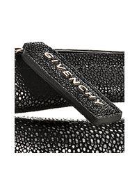 Givenchy - Black Stingray Flap Crossbody Bag - Lyst