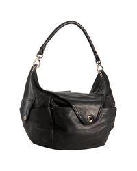 hayden-harnett | Black Leather Zephyr Hobo | Lyst