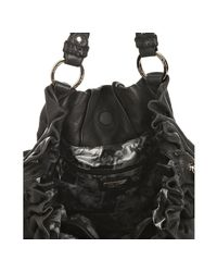 Junior Drake - Black Leather Farrah Gathered Shoulder Bag - Lyst