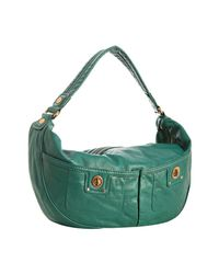 Marc By Marc Jacobs | Green Sage Leather Totally Turnlock Mevie Hobo | Lyst