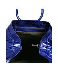 Marc Jacobs - Blue Cruise Metallic Leather Tote - Lyst