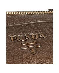 Prada - Brown Deerskin Jeweled Medium Satchel - Lyst