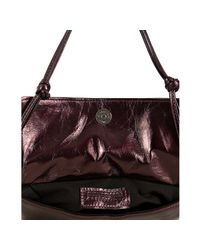 Susan Farber Collections | Red Ruby Leather Juliet Ruffle Double Shoulder Bag | Lyst