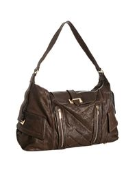 Treesje | Brown Chocolate Pleated Leather Marseille Large Shoulder Bag | Lyst