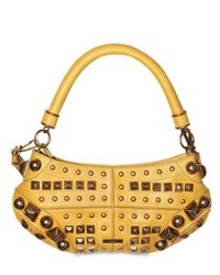 Burberry Prorsum | Yellow Studs Small Top Handle | Lyst