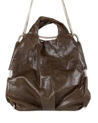 De Couture | Brown Gold Chain Calf Loose Shoulder Bag | Lyst