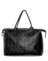 Gareth Pugh | Black Lamb Embossed Big Shopper Tote | Lyst