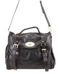 Mulberry - Black Oversized Alexa Leather Bag - Lyst
