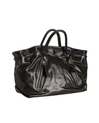 Furla | Black Onyx Leather Carmen Zip Detail Tote Bag | Lyst