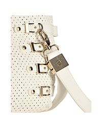 Jimmy Choo | White Perforated Leather Bree Large Shoulder Bag | Lyst