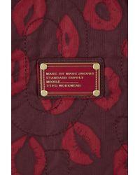 Marc By Marc Jacobs Purple Lip Print Tote Bag