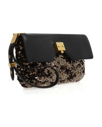 Marc Jacobs - Metallic Alexis Sequin and Leather Clutch - Lyst