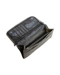 Stella McCartney | Black Shiny Dotted Chamois Falabella Wallet | Lyst