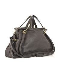 Chloé - Gray Paraty Large Leather Tote - Lyst