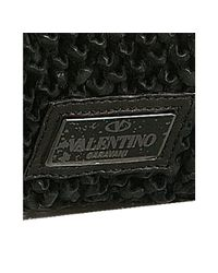 Valentino   Black Woven Leather Bow Detail Shoulder Bag   Lyst